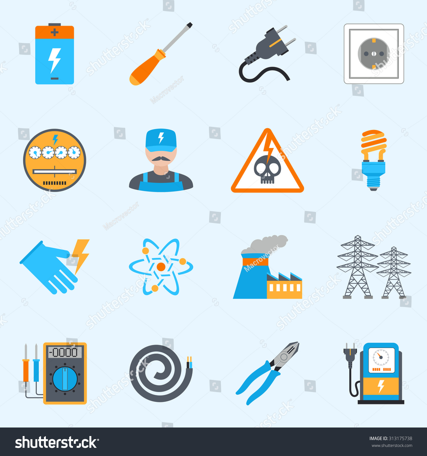 Voltmeter Icon For Wiring Diagram 33 Images Schematic Stock Photo Electricity Icons Set With Wire Screwdriver Electrician Warning Sign Isolated 313175738