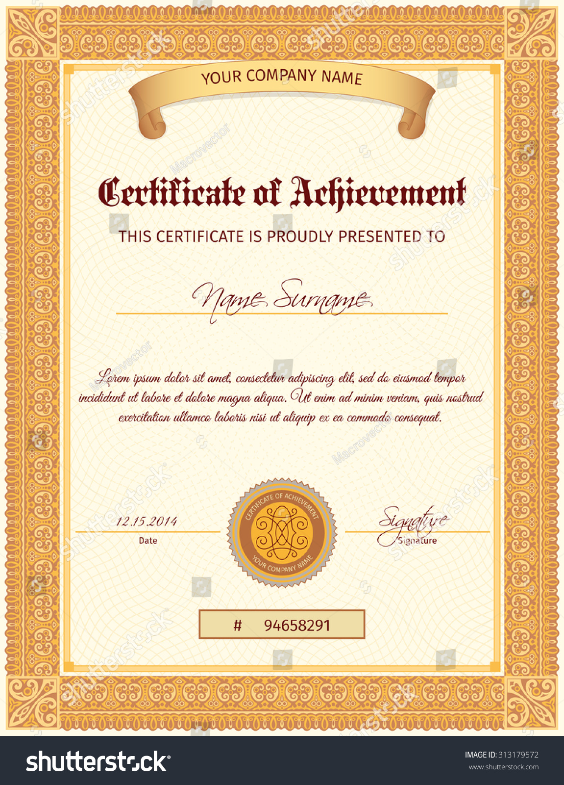 Certificate Seal Template certificate of completion free quality – Certificate Document Template