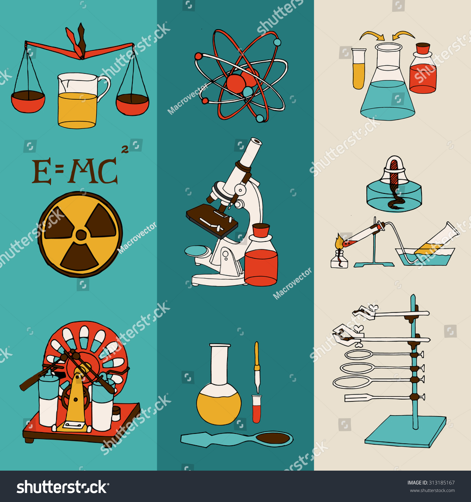 Science Chemistry Physics Scientific Research Lab Stock Illustration 313185167
