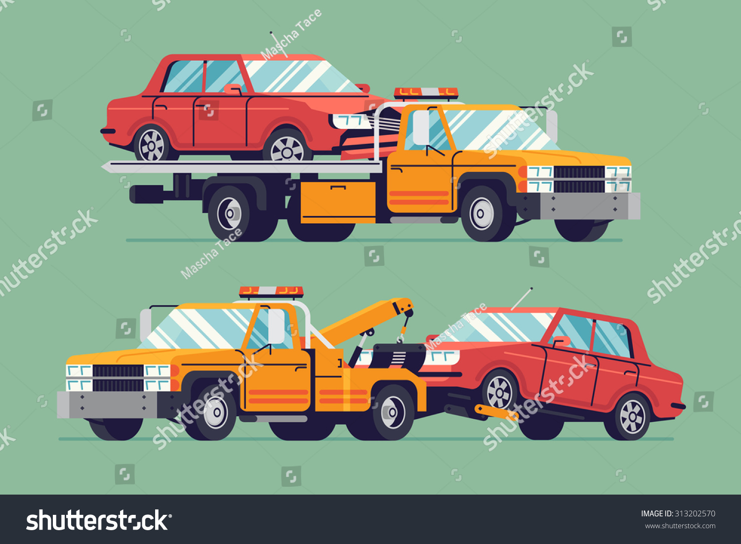 Cool Flat Towing Trucks With Broken Cars | Road Car Repair Service  Assistance Vehicles With Damaged