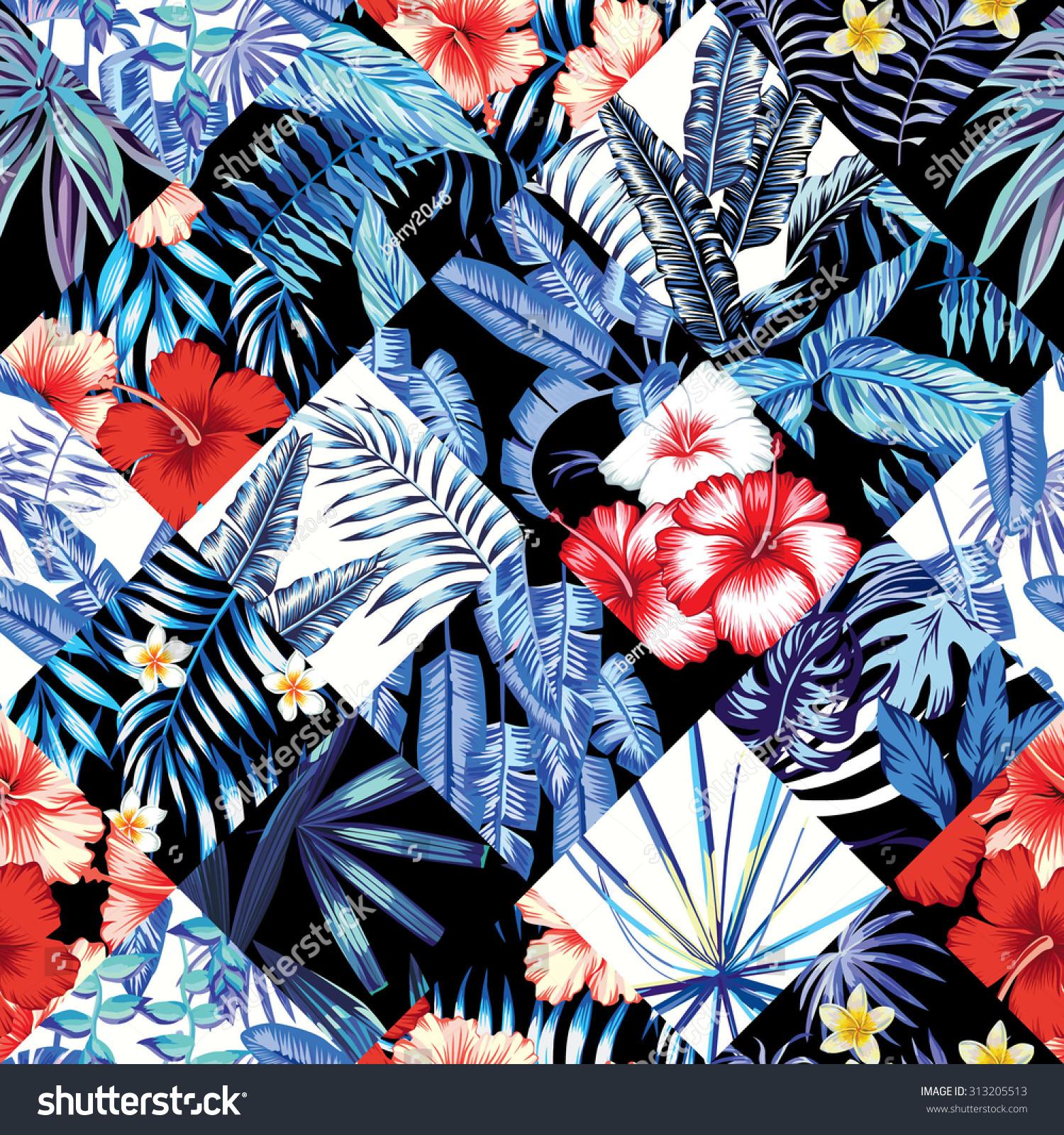 Print Fashion Tropic Jungle Seamless Vector Stock Vector Royalty