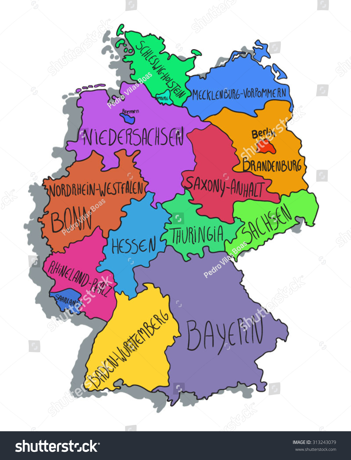 Colorful Cartoon Map Of ...