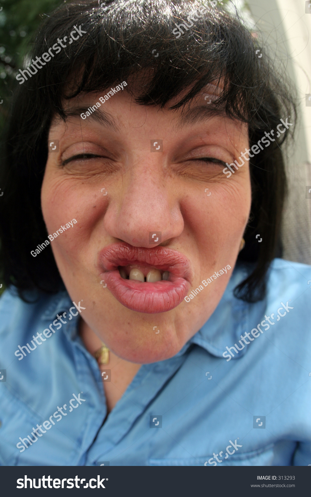 Woman Ugly Face Stock Photo 313293 - Shutterstock