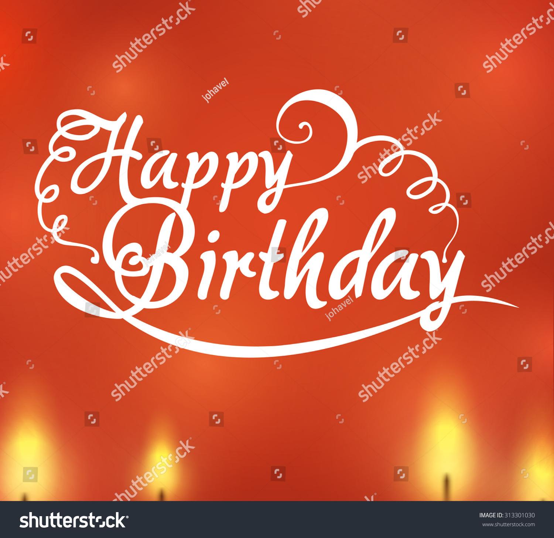 Happy Birthday Concept Decoration Icons Design Stock Vector