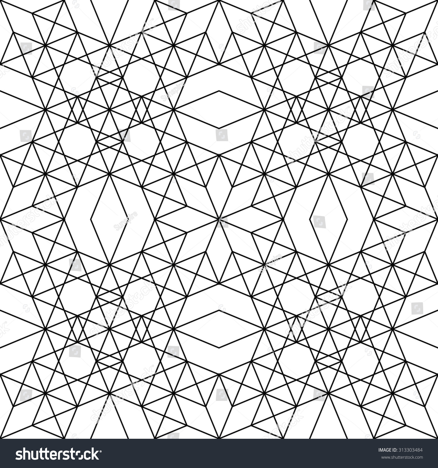 Bed sheet pattern texture - Vector Modern Seamless Pattern Geometry Black And White Textile Print Stylish Background Abstract