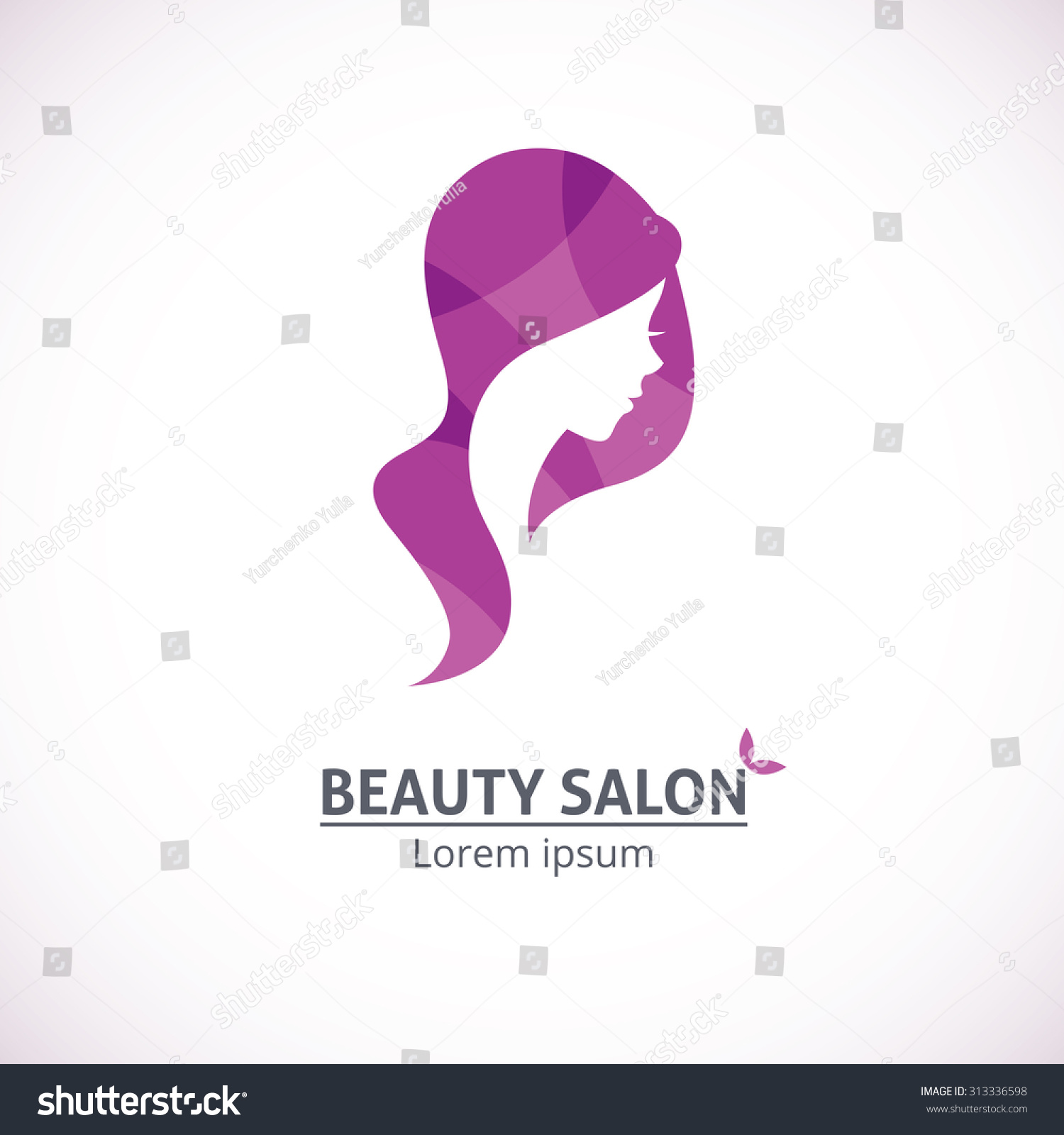 Beauty salon visit card psd for Abstract beauty salon