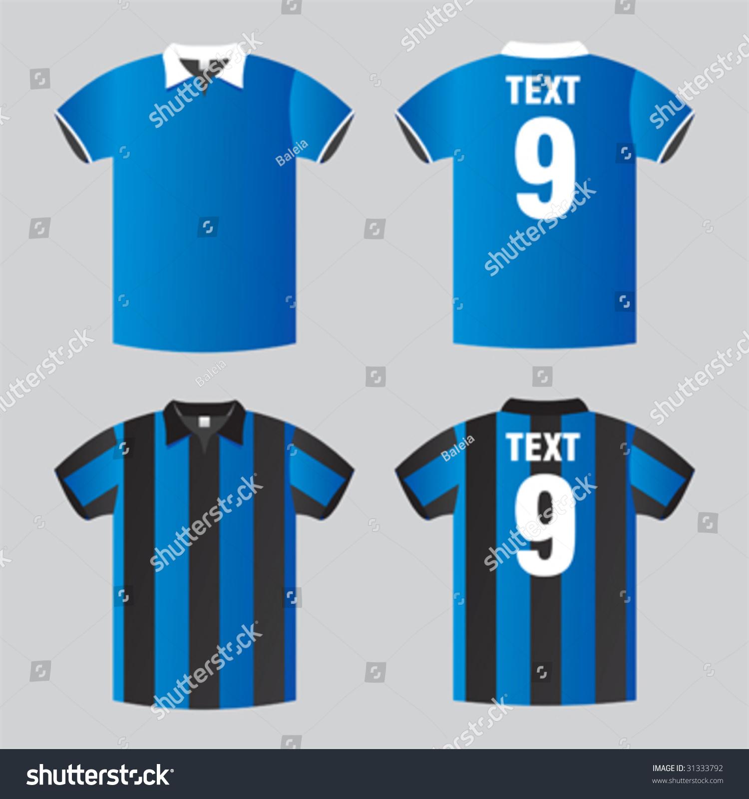 Football Soccer Shirt Stock Vektorgrafik Lizenzfrei