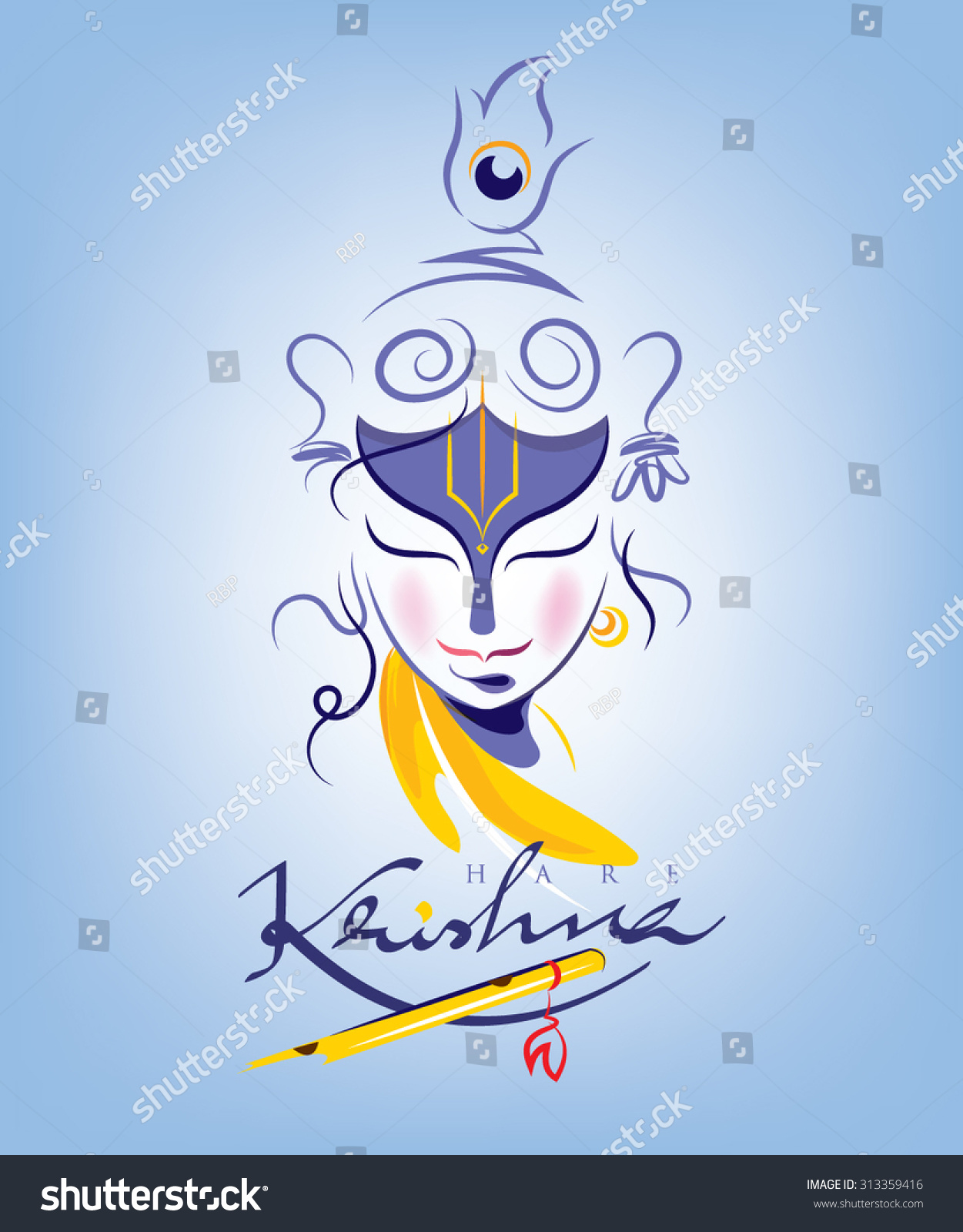 Lord Bal Krishna wall stickers Pictures for free download