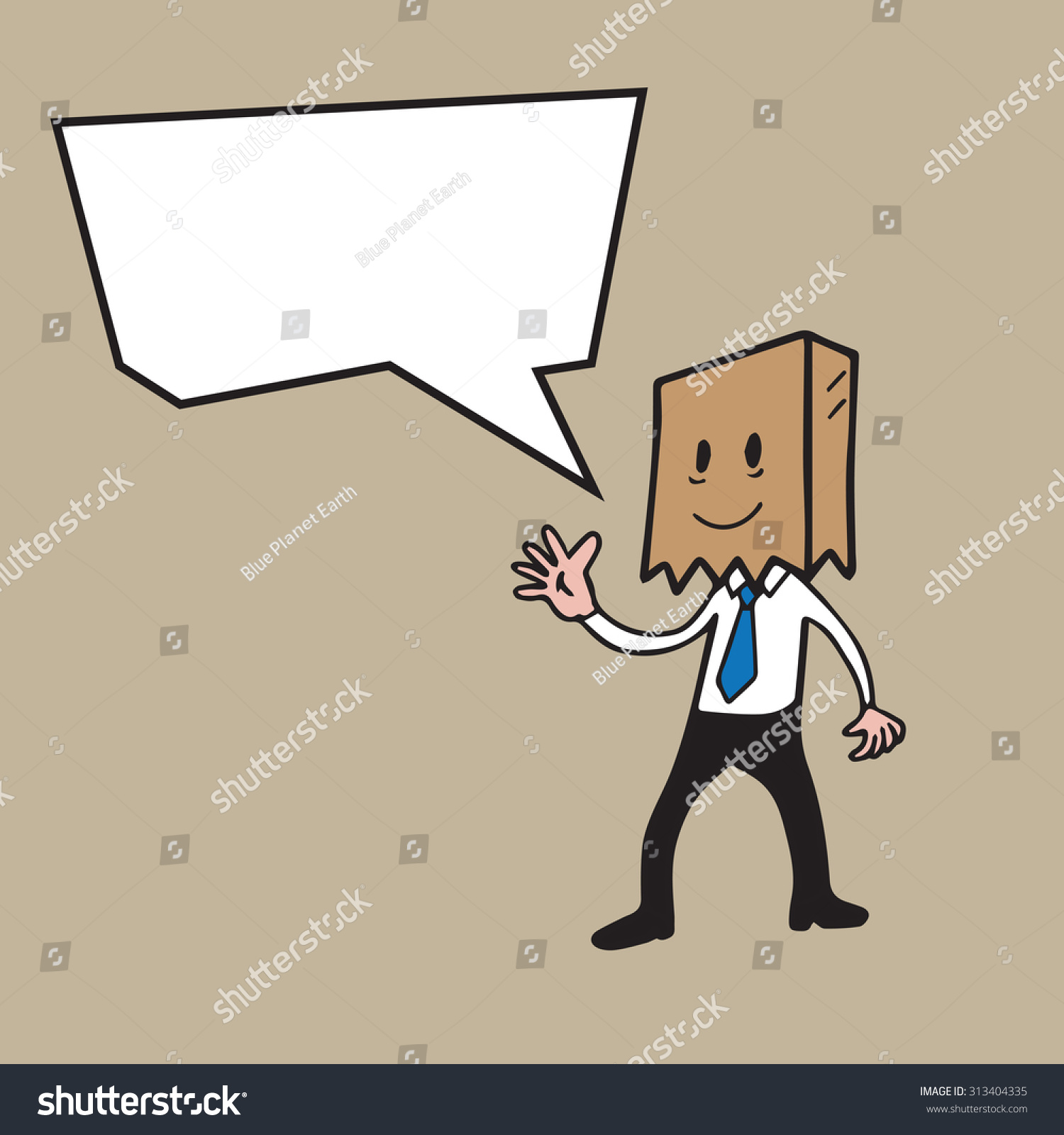 Speech Balloon Man Bag Mask Cartoon Stock Vector (Royalty Free