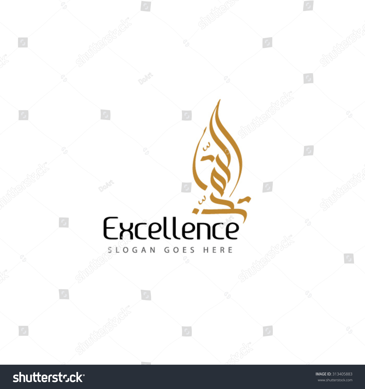 Excellence logo illustrator file created by stock vector