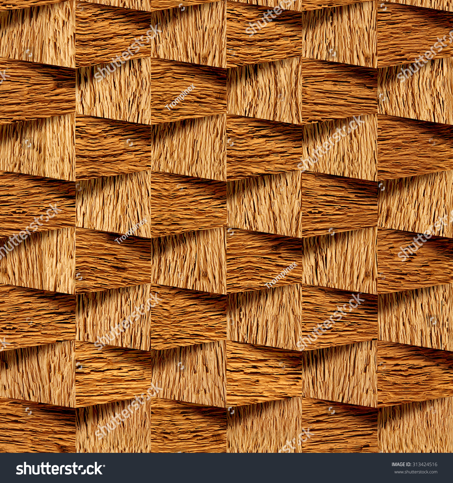 Decorative wooden bricks 3d wallpaper interior stock for Different wallpapers for walls
