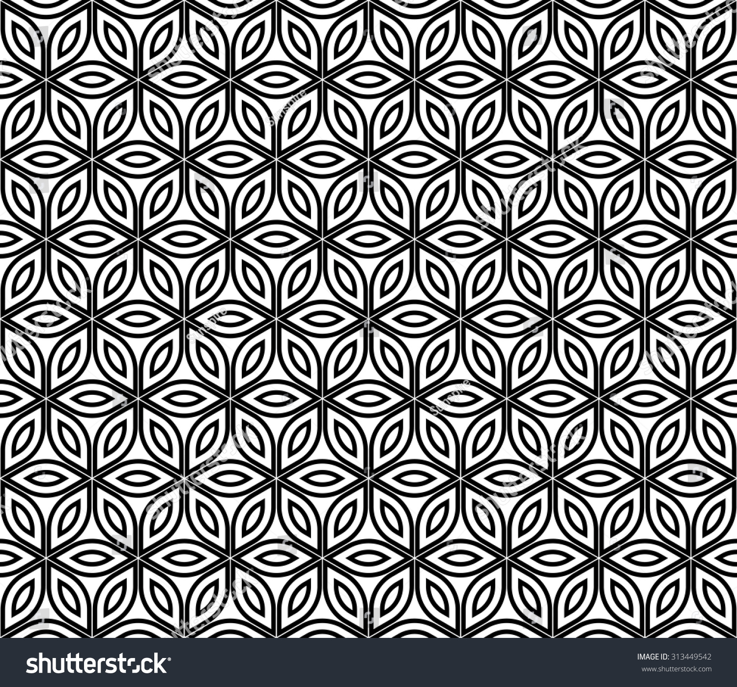 Modern bed sheet texture - Vector Modern Seamless Pattern Sacred Geometry Black And White Textile Print Stylish Background