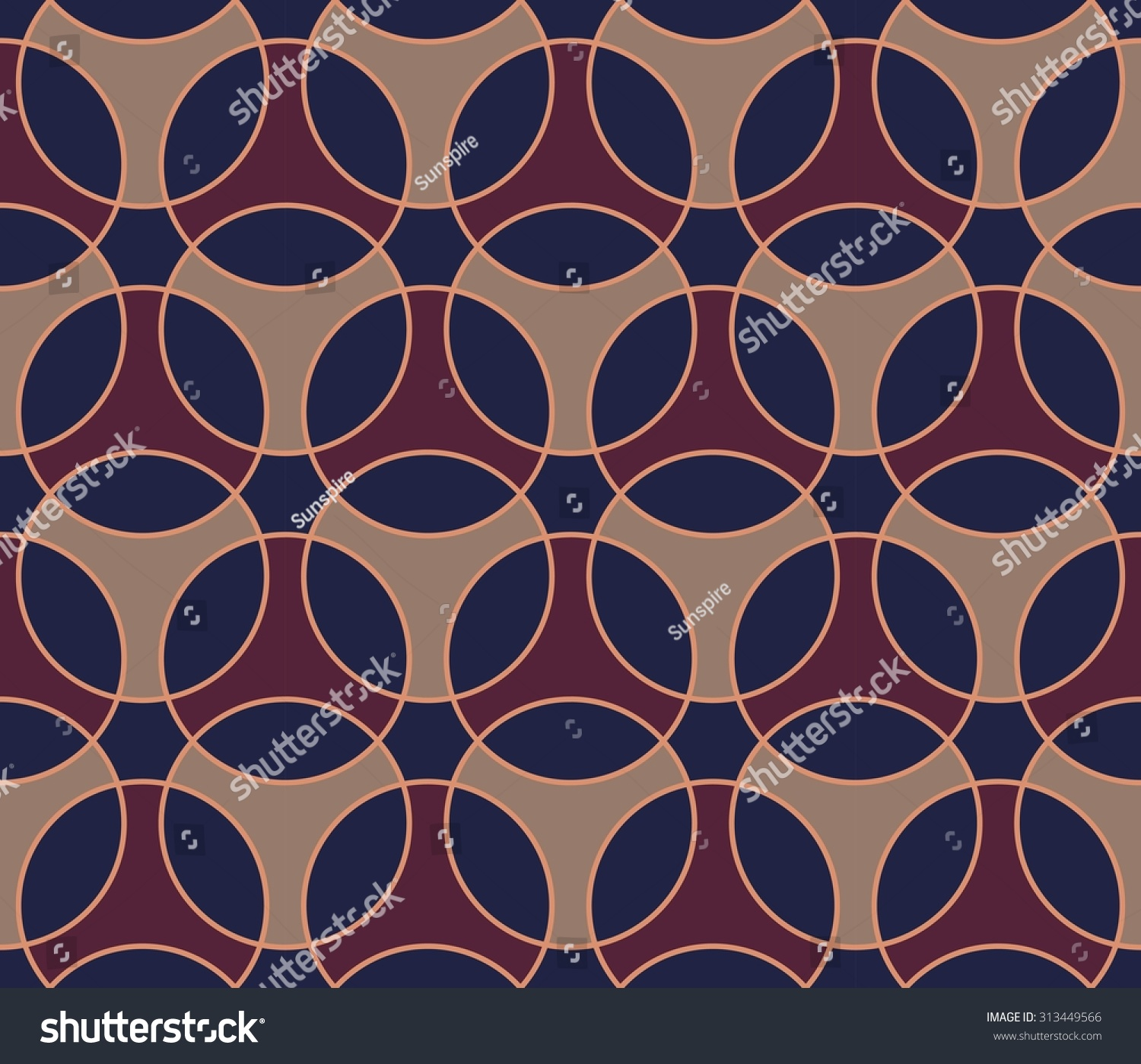Bed sheet pattern texture - Vector Modern Seamless Colorful Pattern Connected Shapes Color Blue Purple Background Textile Print