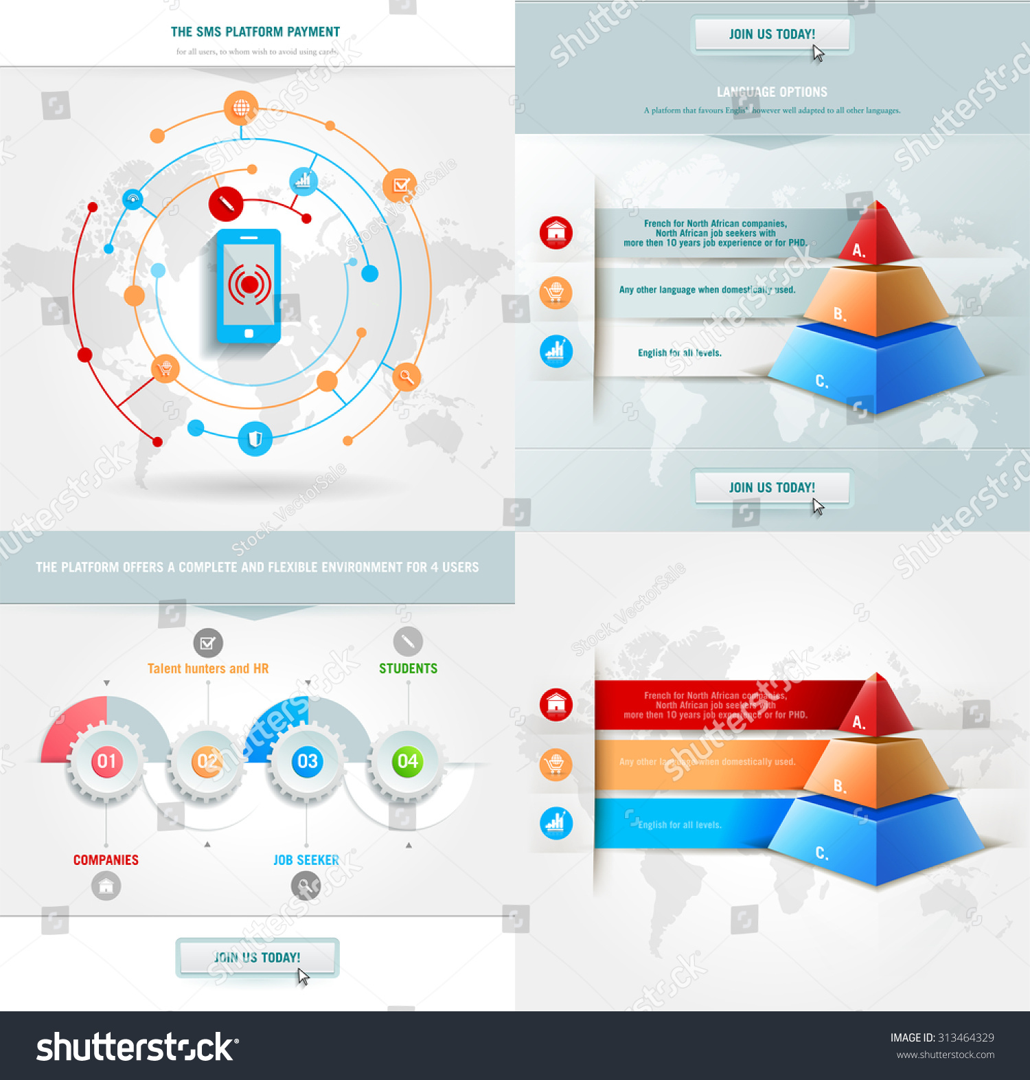 Vector infographics element colored pyramid workflow stock photo vector infographics element with colored pyramid for workflow layout diagram number step ccuart Image collections
