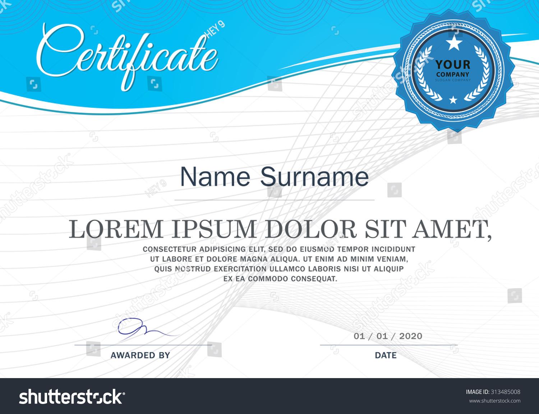 Certificate achievement frame design template stock vector certificate of achievement frame design template xflitez Choice Image