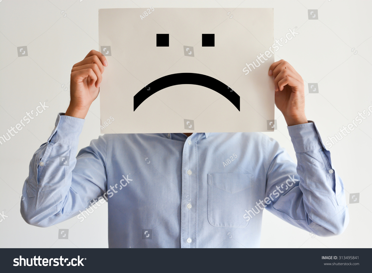 Unhappy employee or demotivated at working place #313495841