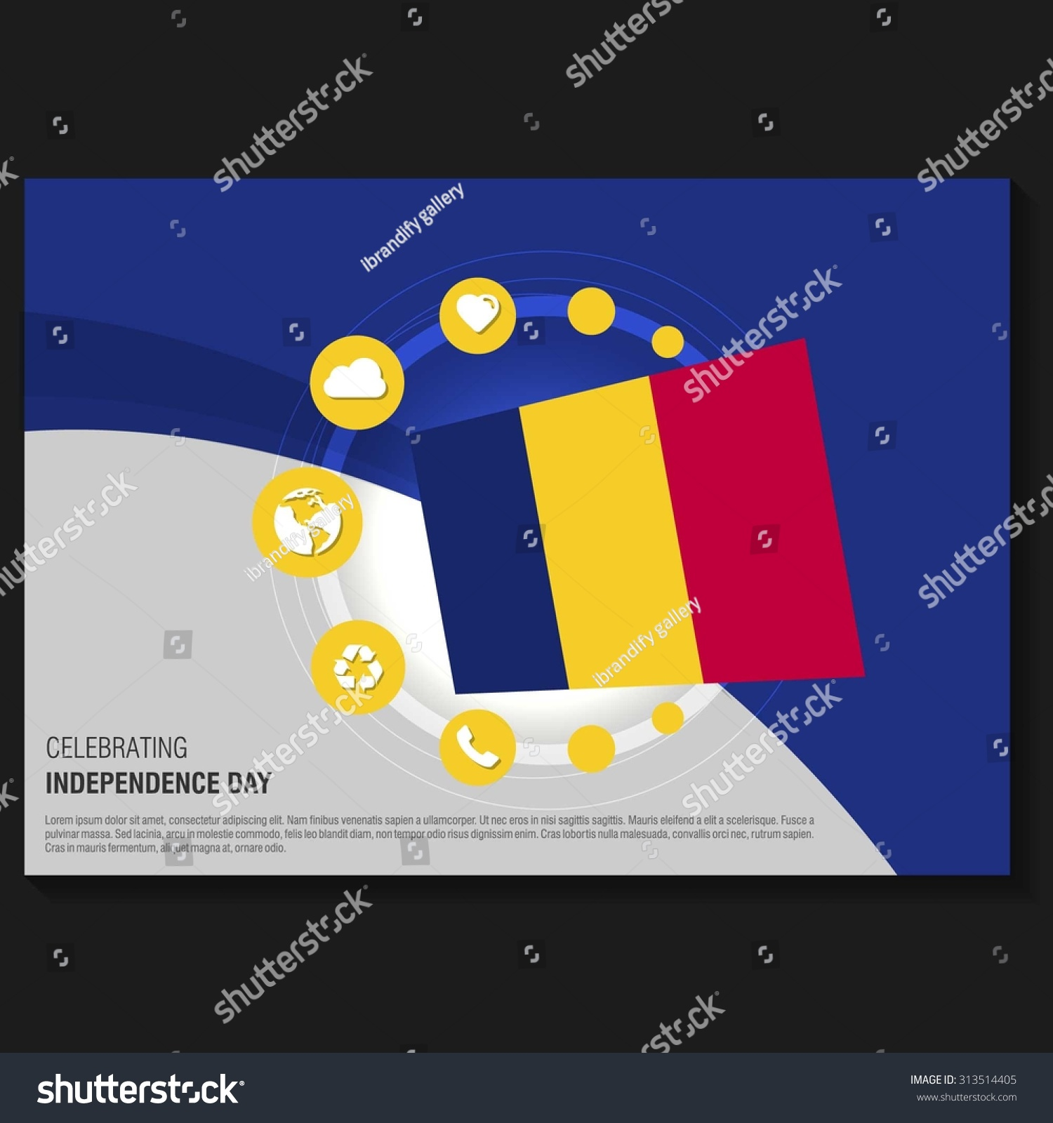 vector chad independence day flyer template creative brochure creative brochure title page national day leaflet design preview save to a lightbox