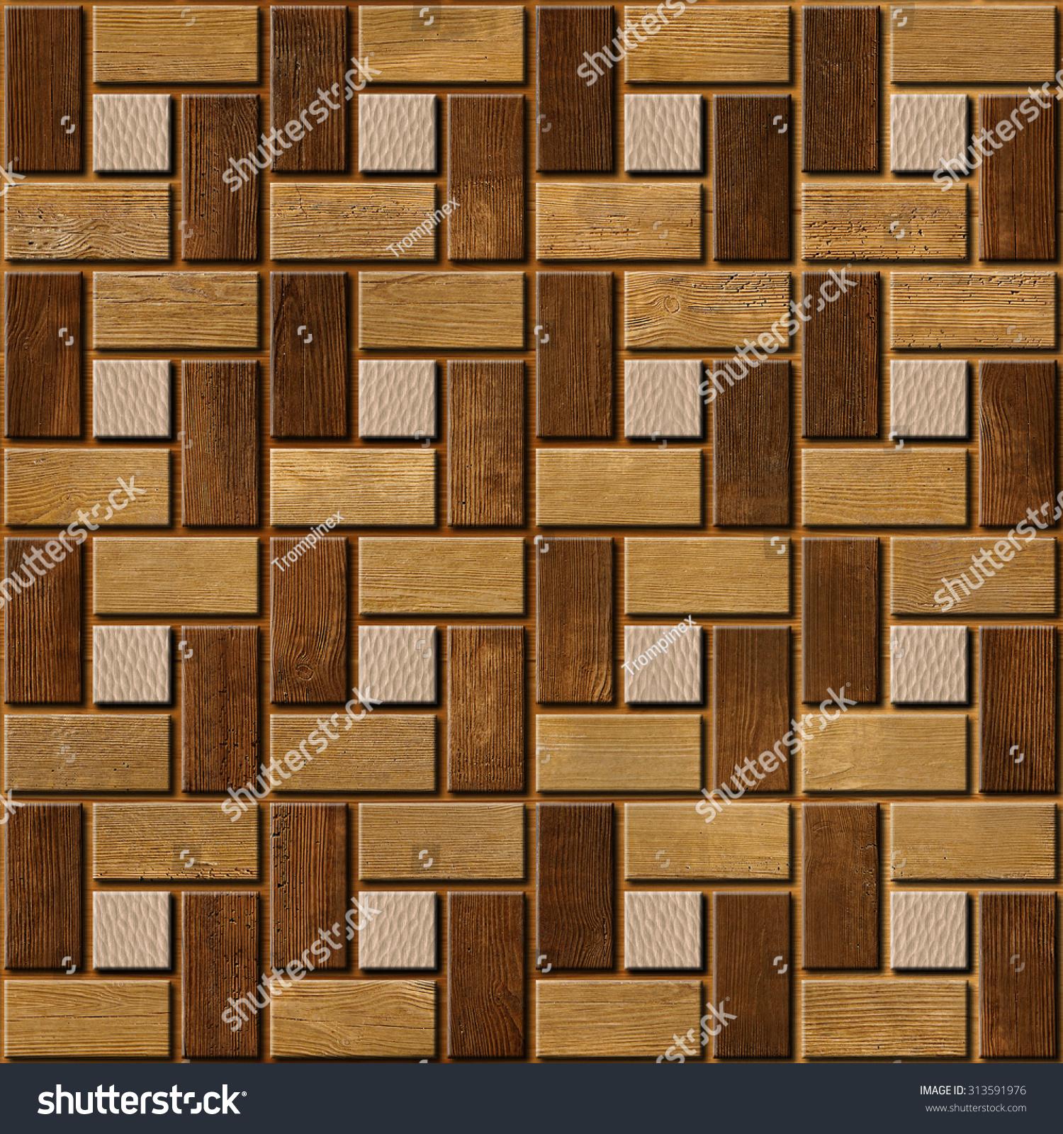 Decorative wooden parquet interior wall panel pattern - Architectural wood interior wall panels ...