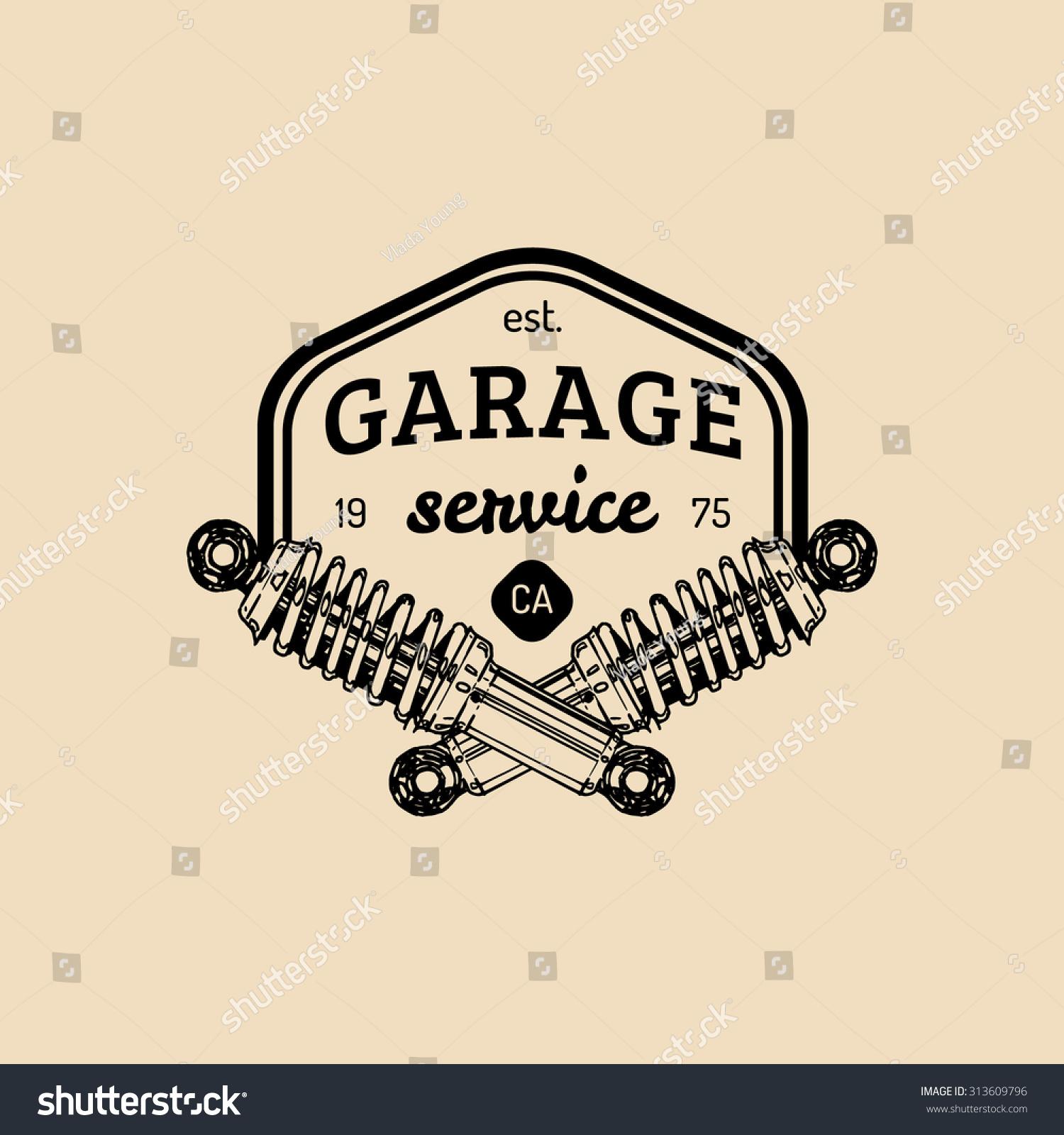 car repair logo vector vintage garage logo vintage car