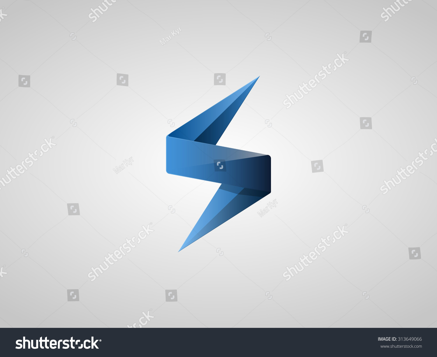 Blue Lighting Bolt Flash Logo Design Stock Vector 313649066 ... for Vector Lighting Bolt  183qdu