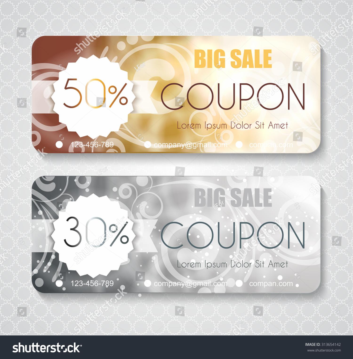 Blank Coupons Templates coupon templates printable blank coupons – Discount Coupons Templates