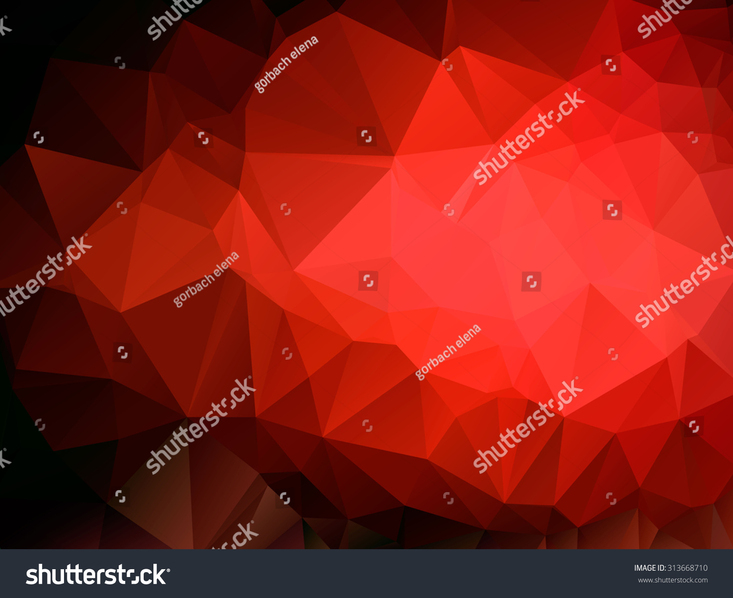 Color Abstract Vector Background Text Frame Stock Vector: Colorful Red Swirl Polygon Background Vector Stock Vector