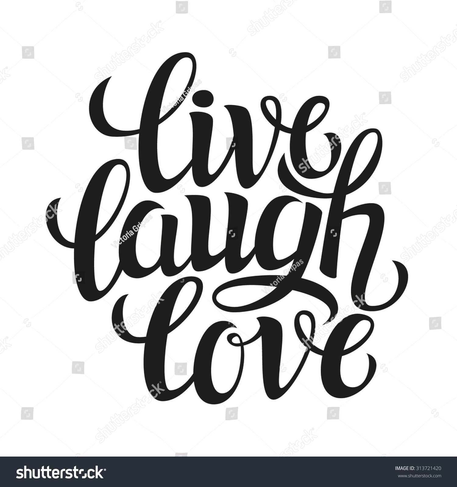 hand drawn typography posterinspirational quote live stock vector 313721420 shutterstock