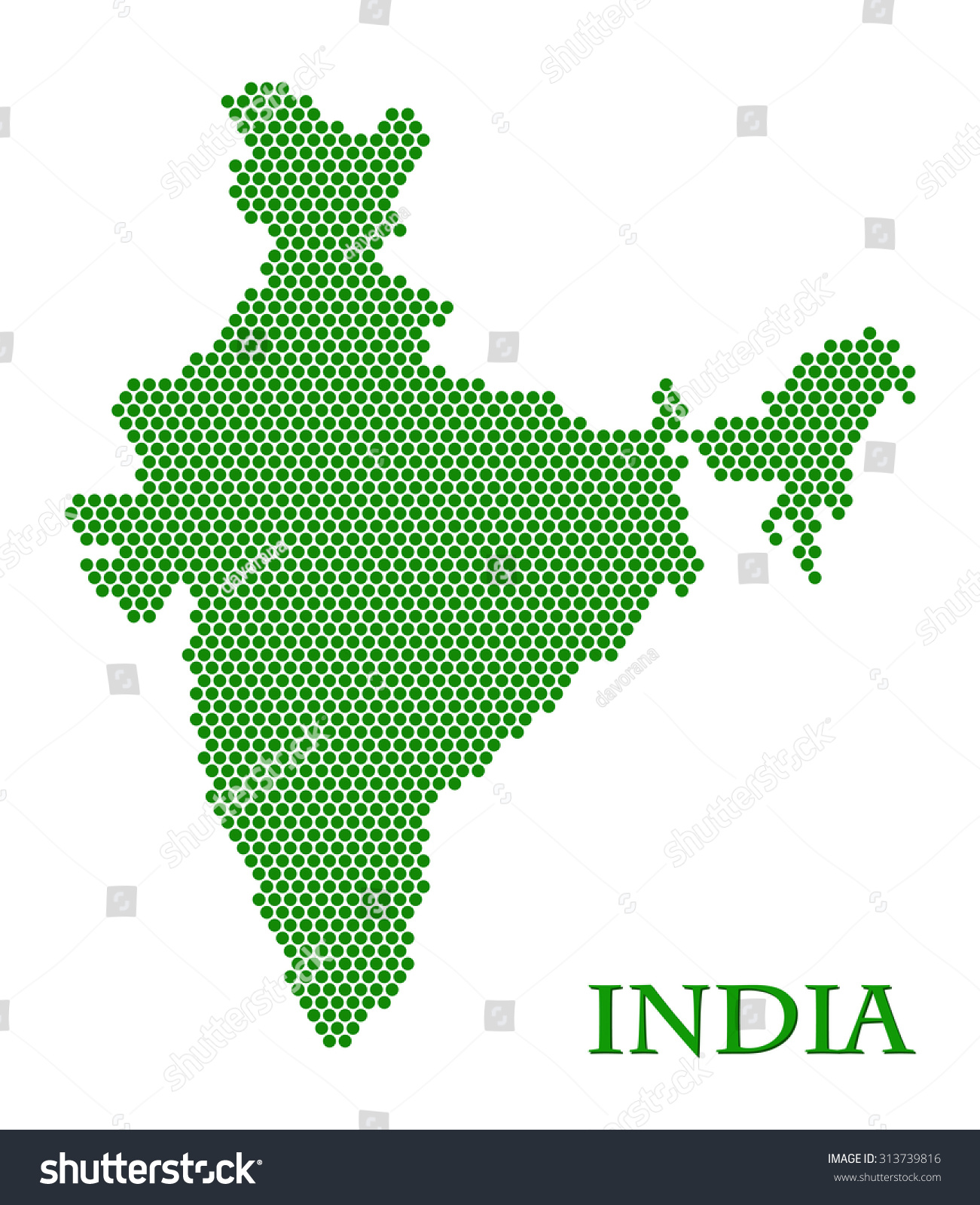 India Country Shape
