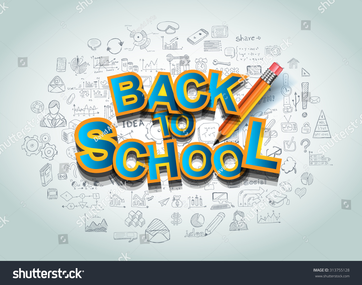 School Book Cover Background : Back school background use advertiments book stock vector