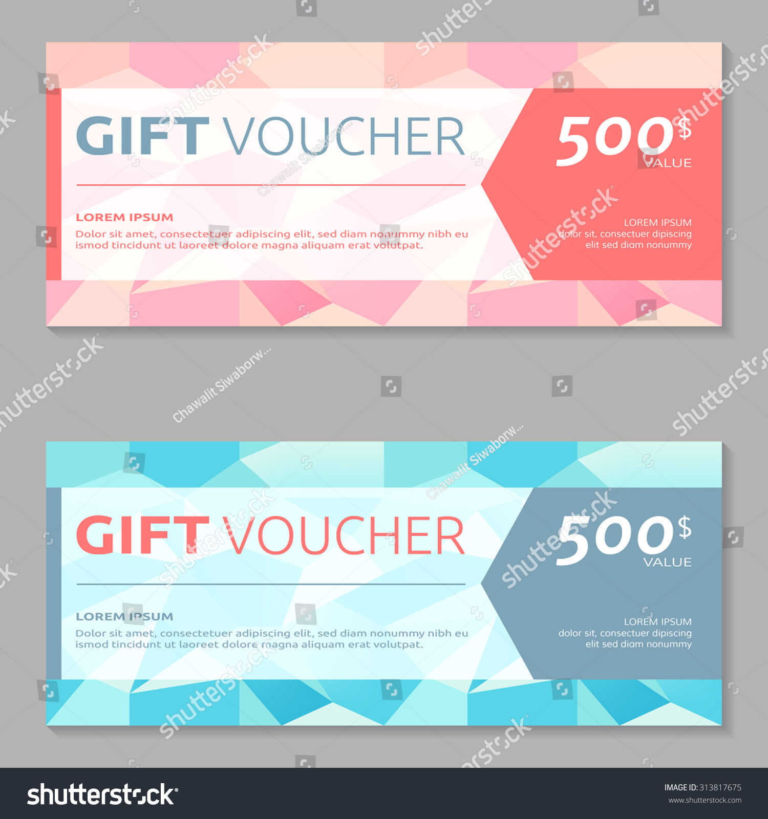 Gift Voucher Design Template Stock Vector 313817675 - Shutterstock