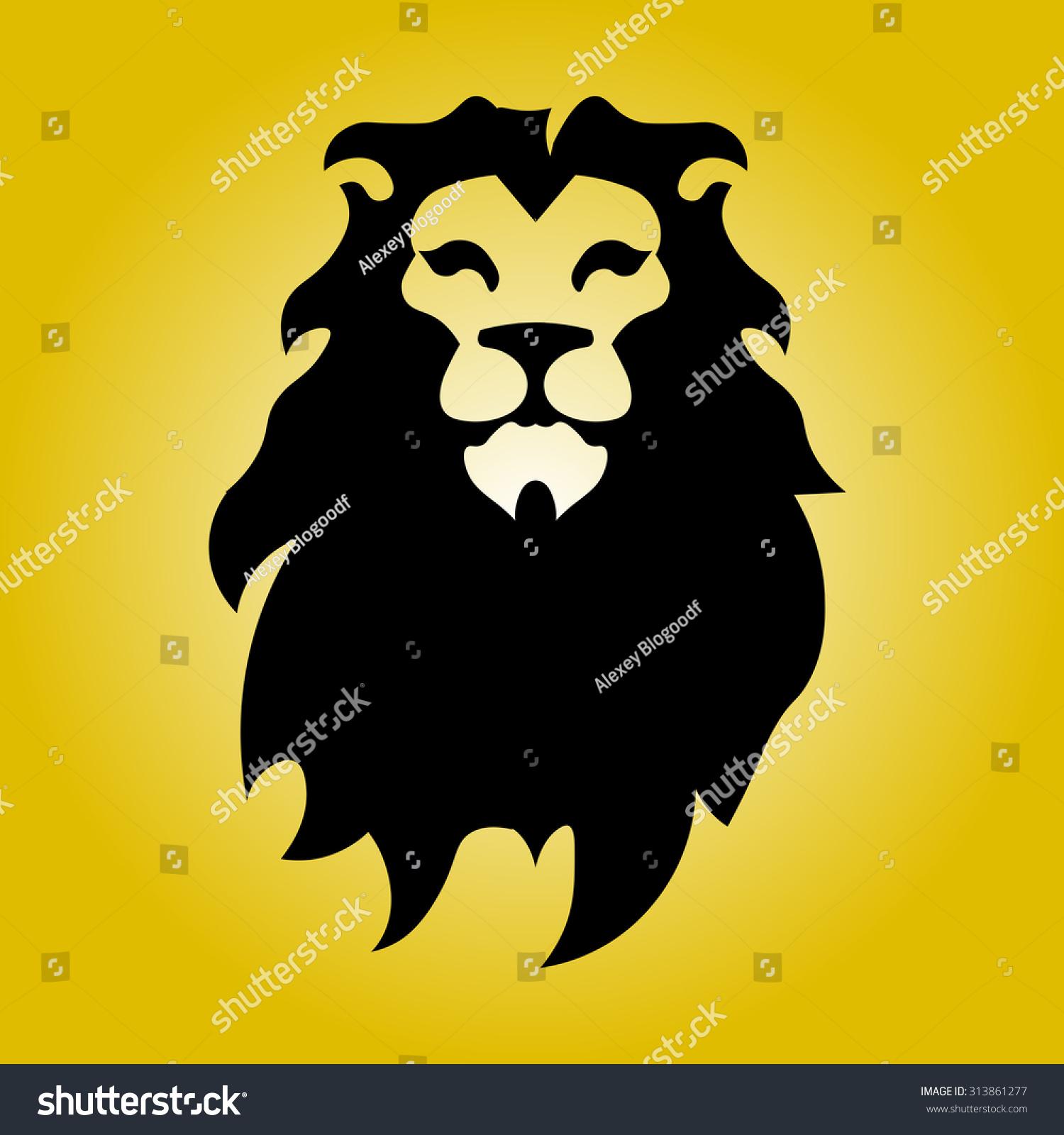 Hipster lion logo