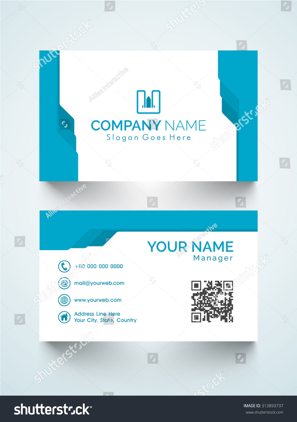 Creative horizontal business card visiting card stock vector 2018 creative horizontal business card or visiting card design for your company colourmoves