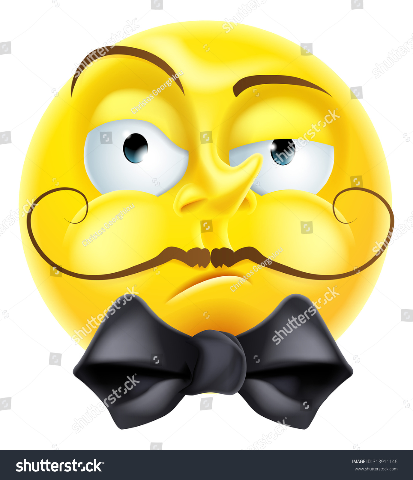 Snooty Arrogant Condescending Looking Emoji Emoticon Stock