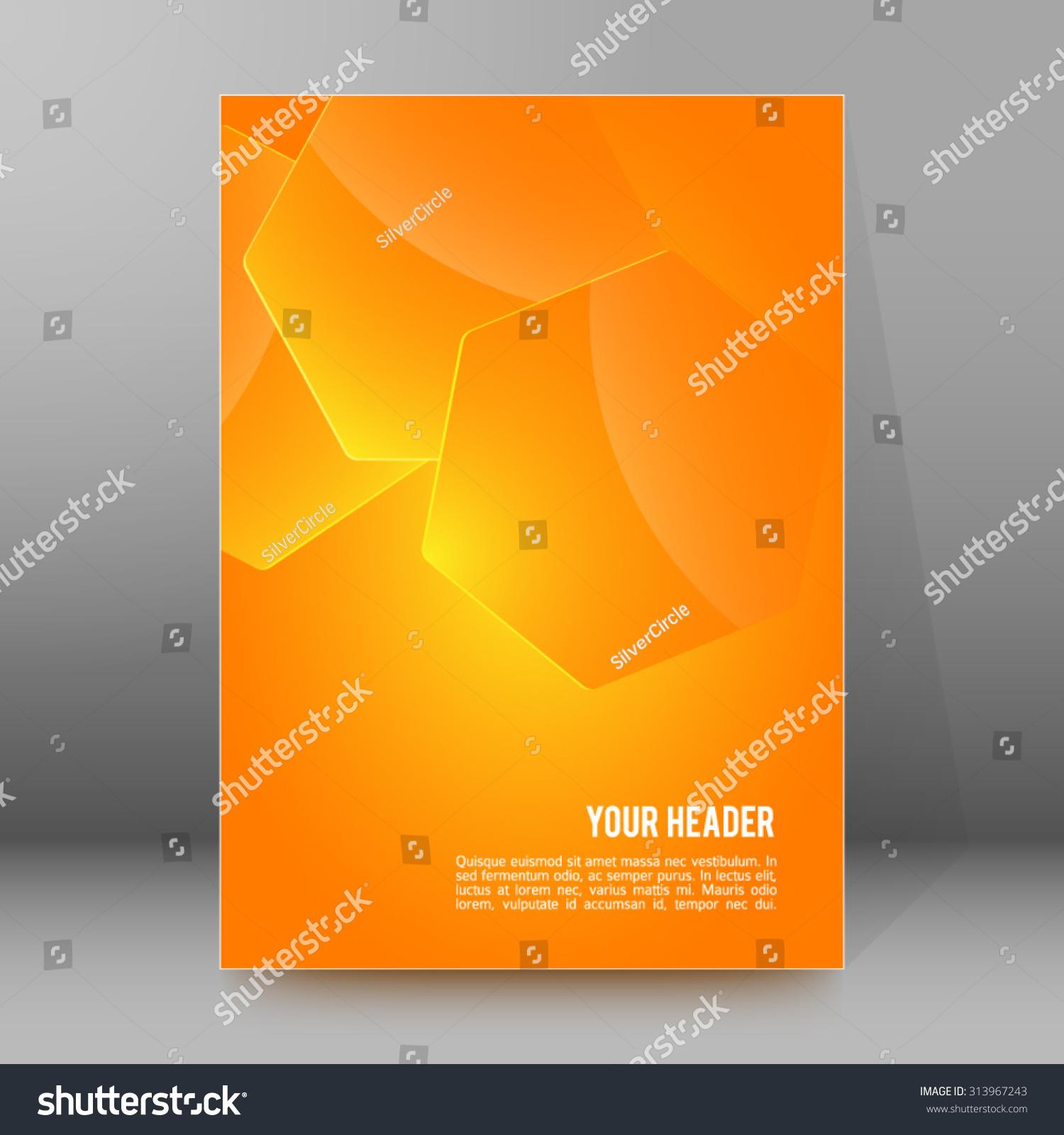 advertisement flyer design elements yellow gradient stock vector advertisement flyer design elements yellow gradient background elegant graphic hexagon bright light vector