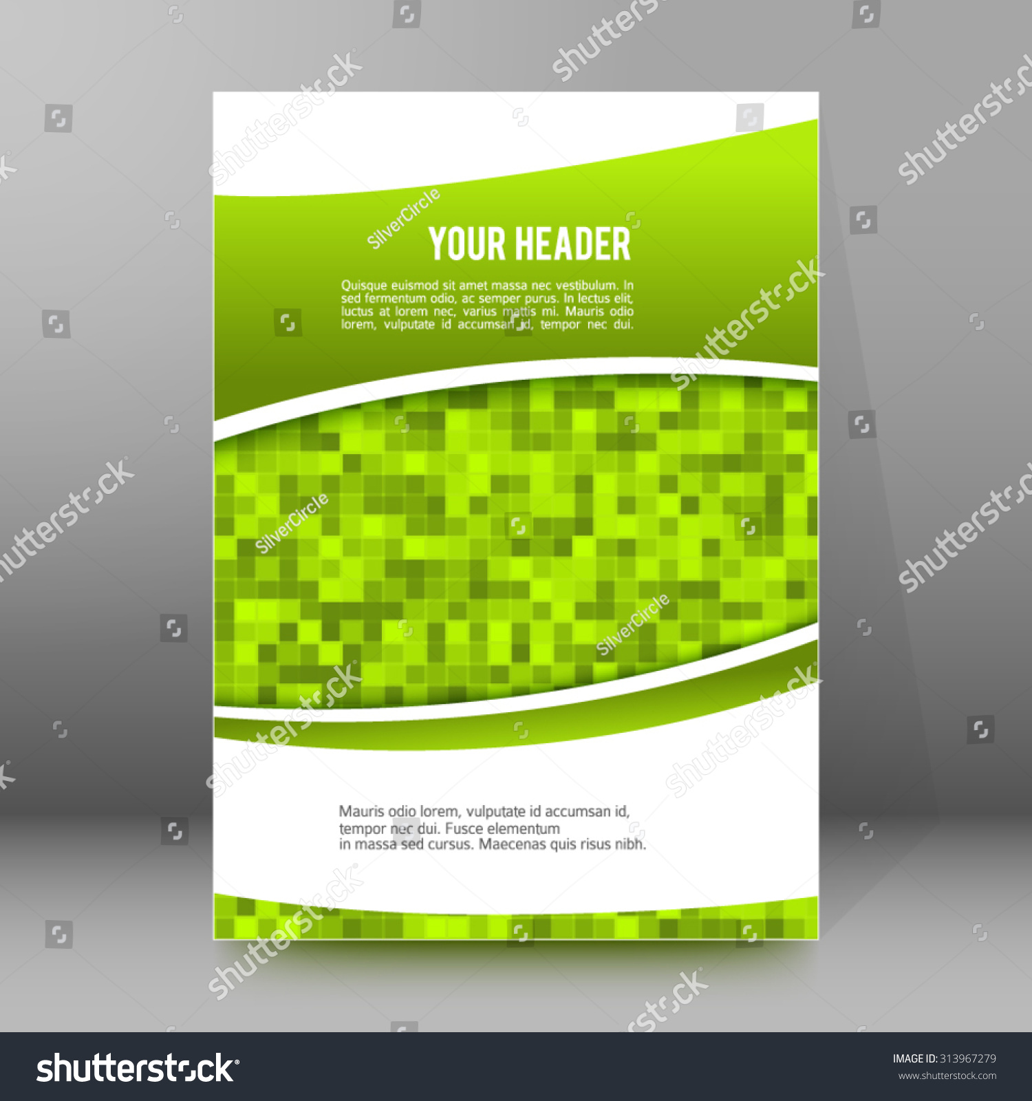 advertisement flyer design elements mesh green stock vector advertisement flyer design elements mesh green background elegant graphic mosaic bright light vector