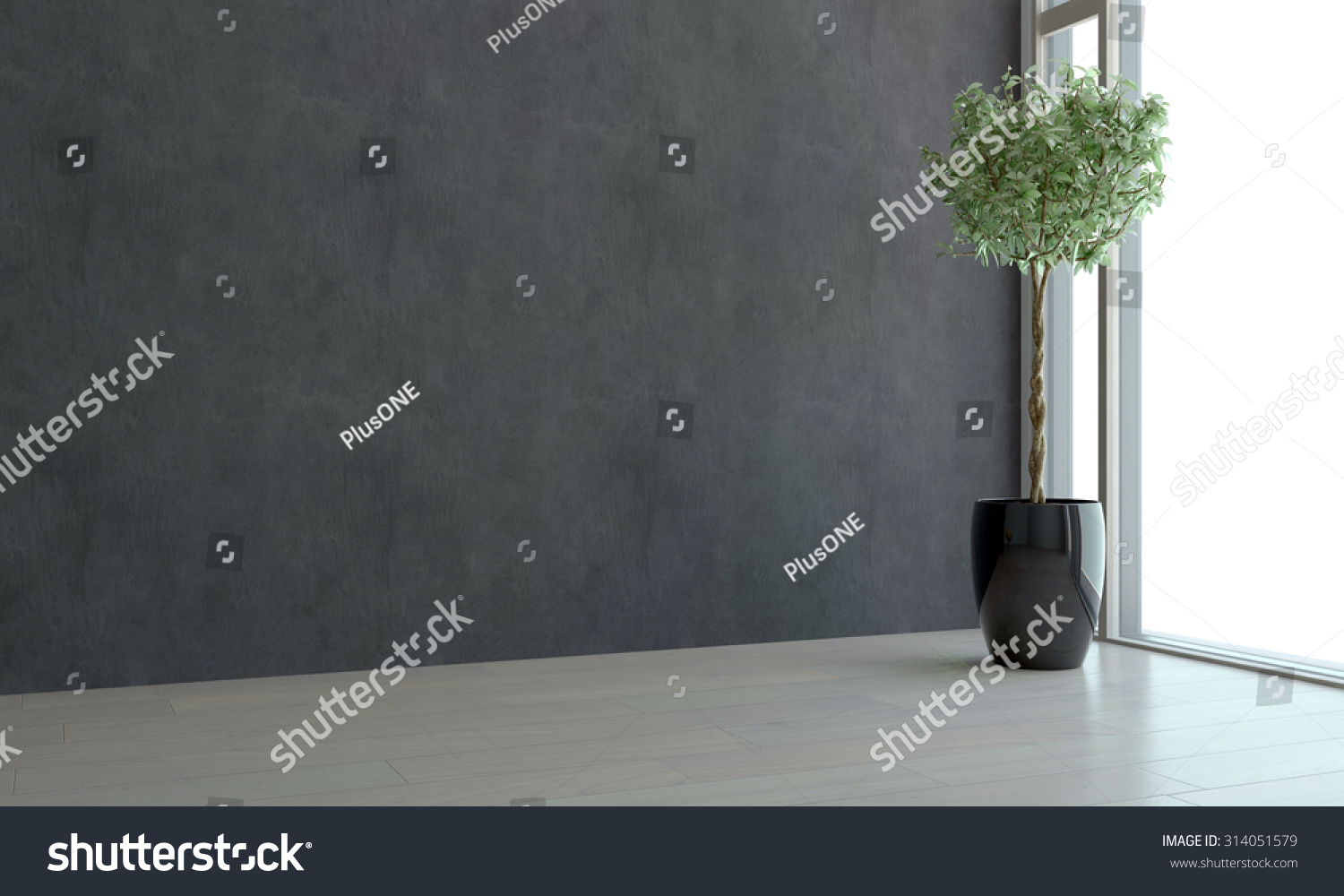 Dark empty room with window - Save To A Lightbox