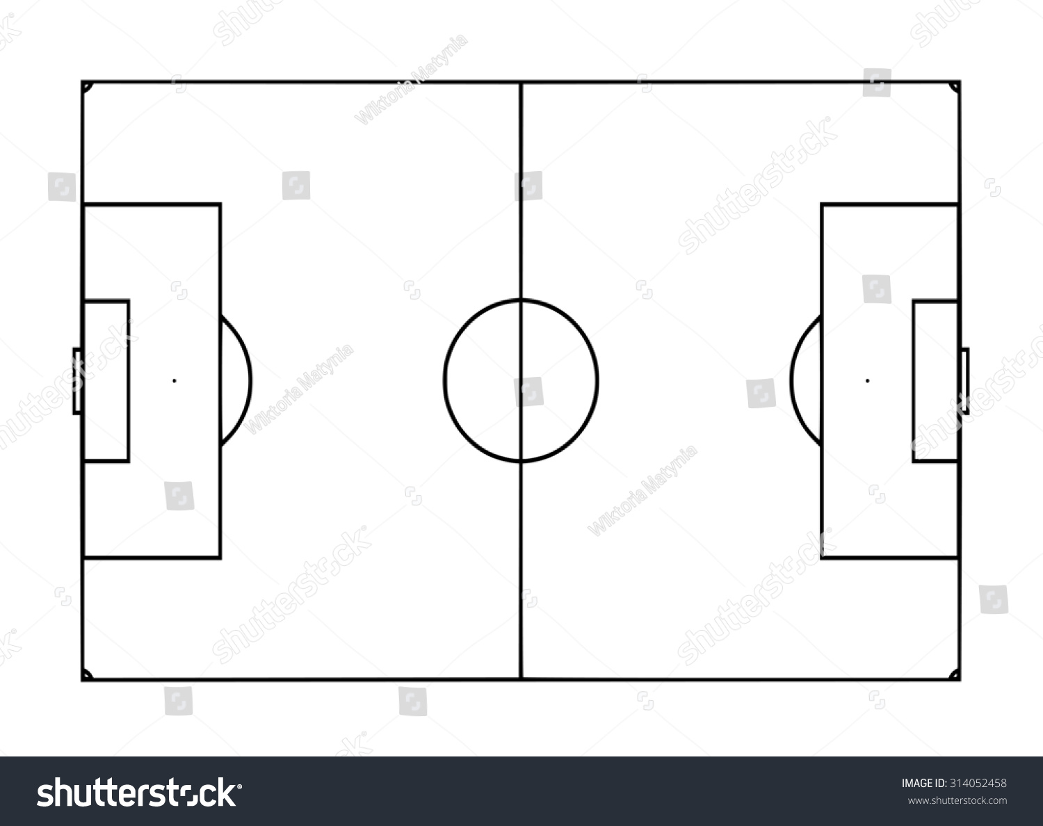 Royalty Free Stock Illustration Of Football Pitch Template Stock