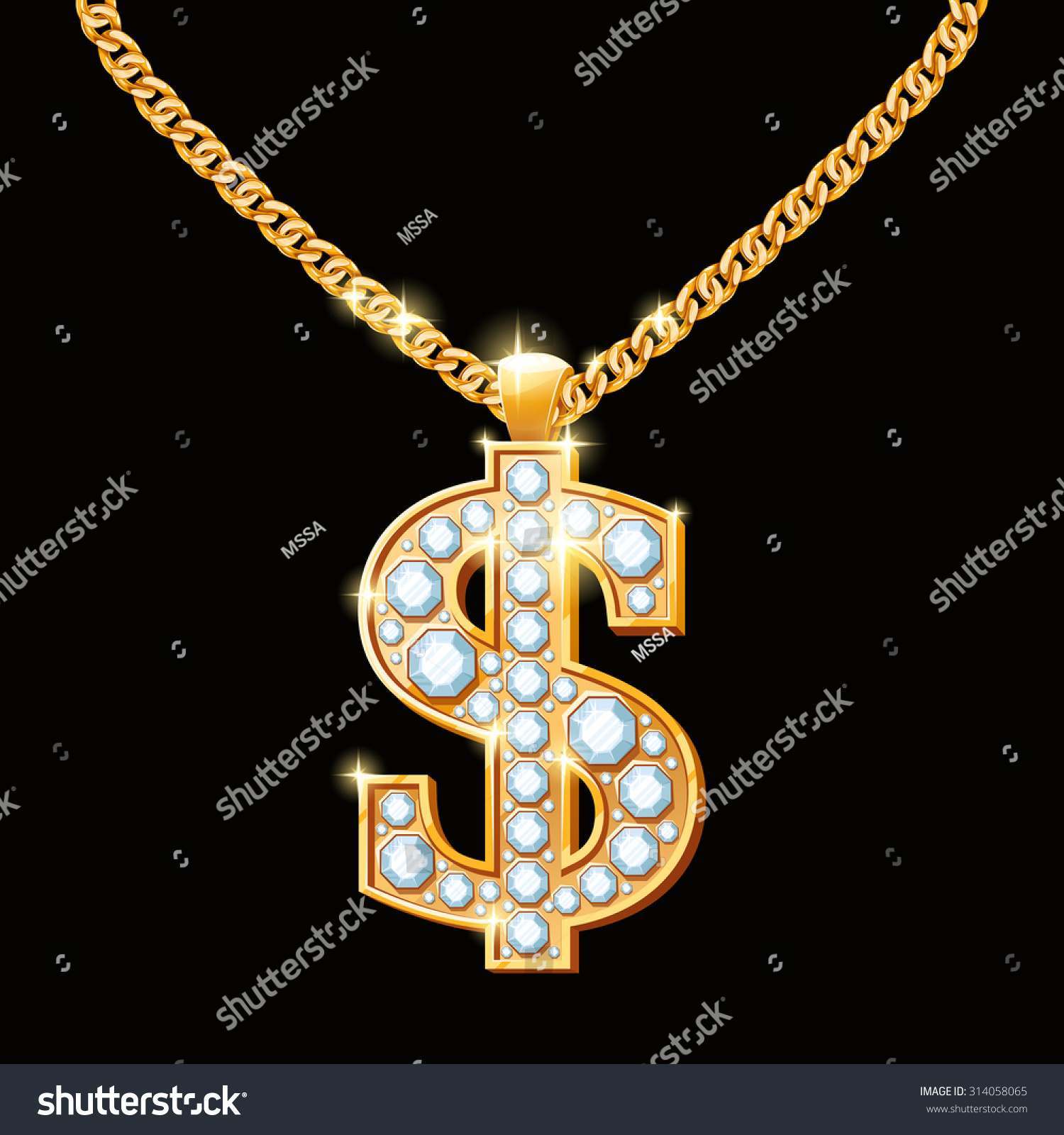 Diamond necklace for rappers
