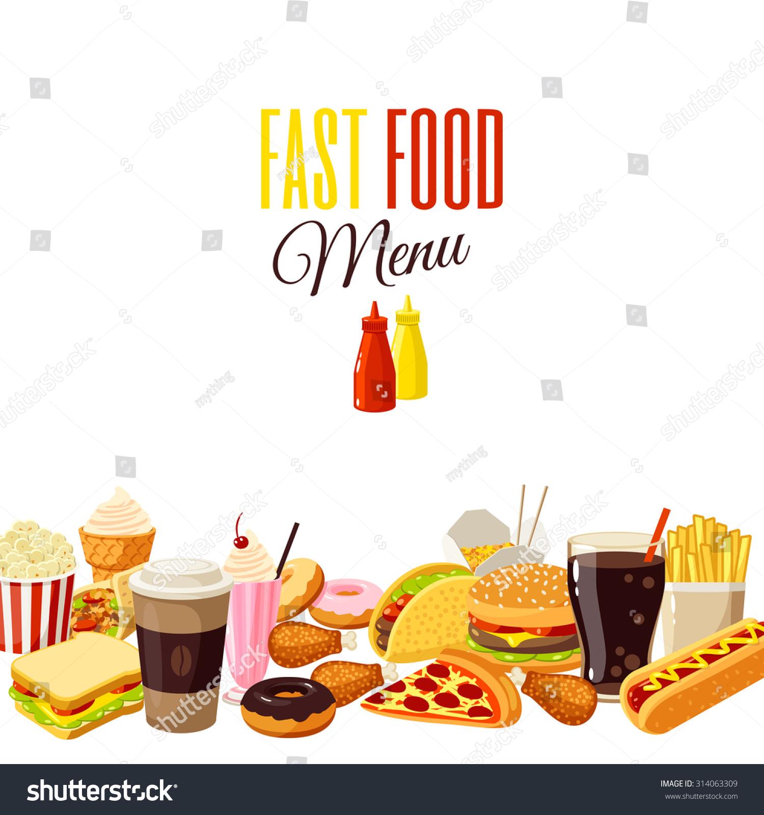 Ice Cream Sandwich Wallpaper: Background Cartoon Food Hamburger French Fries Stock