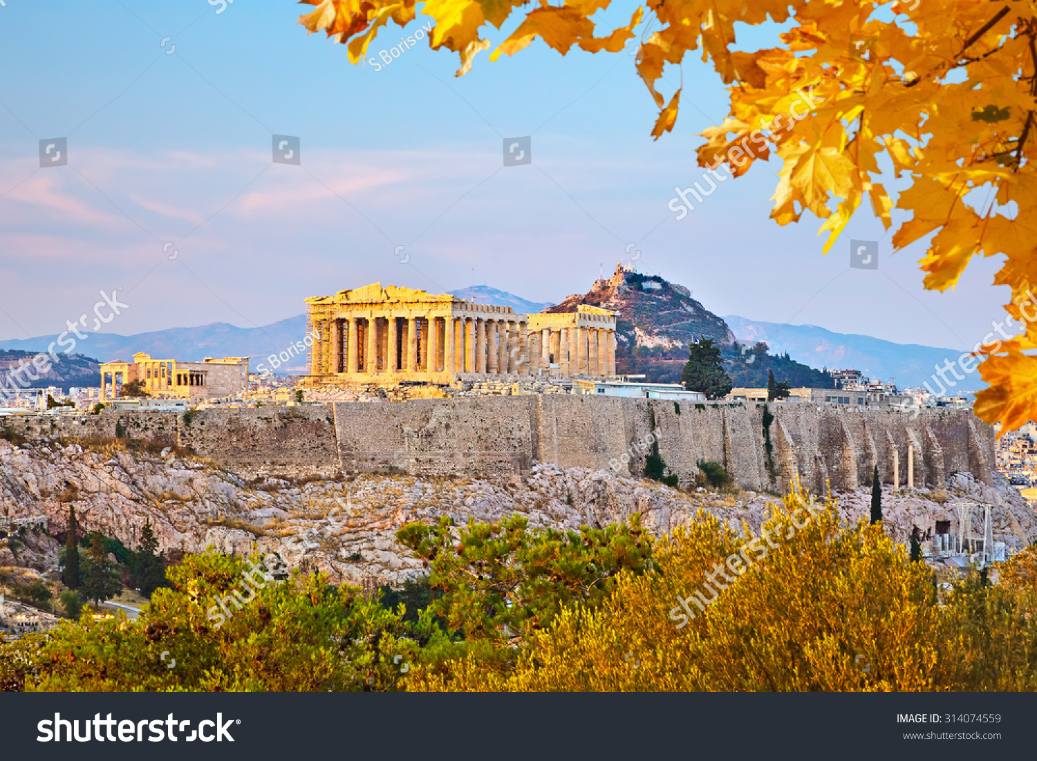 View of the city of Athens and Mount Lycabettus, Athens ...  |Athens Greece Photography