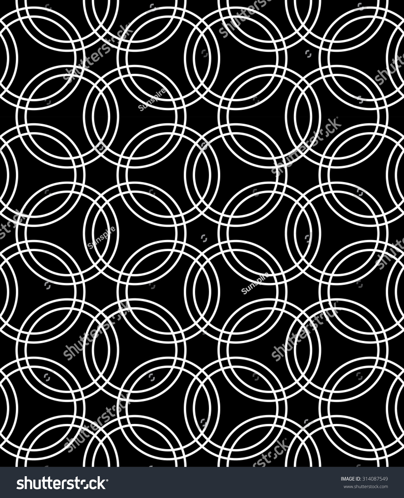 Black and white bed sheets texture - Vector Modern Seamless Pattern Flowers Black And White Textile Print Stylish Background Abstract