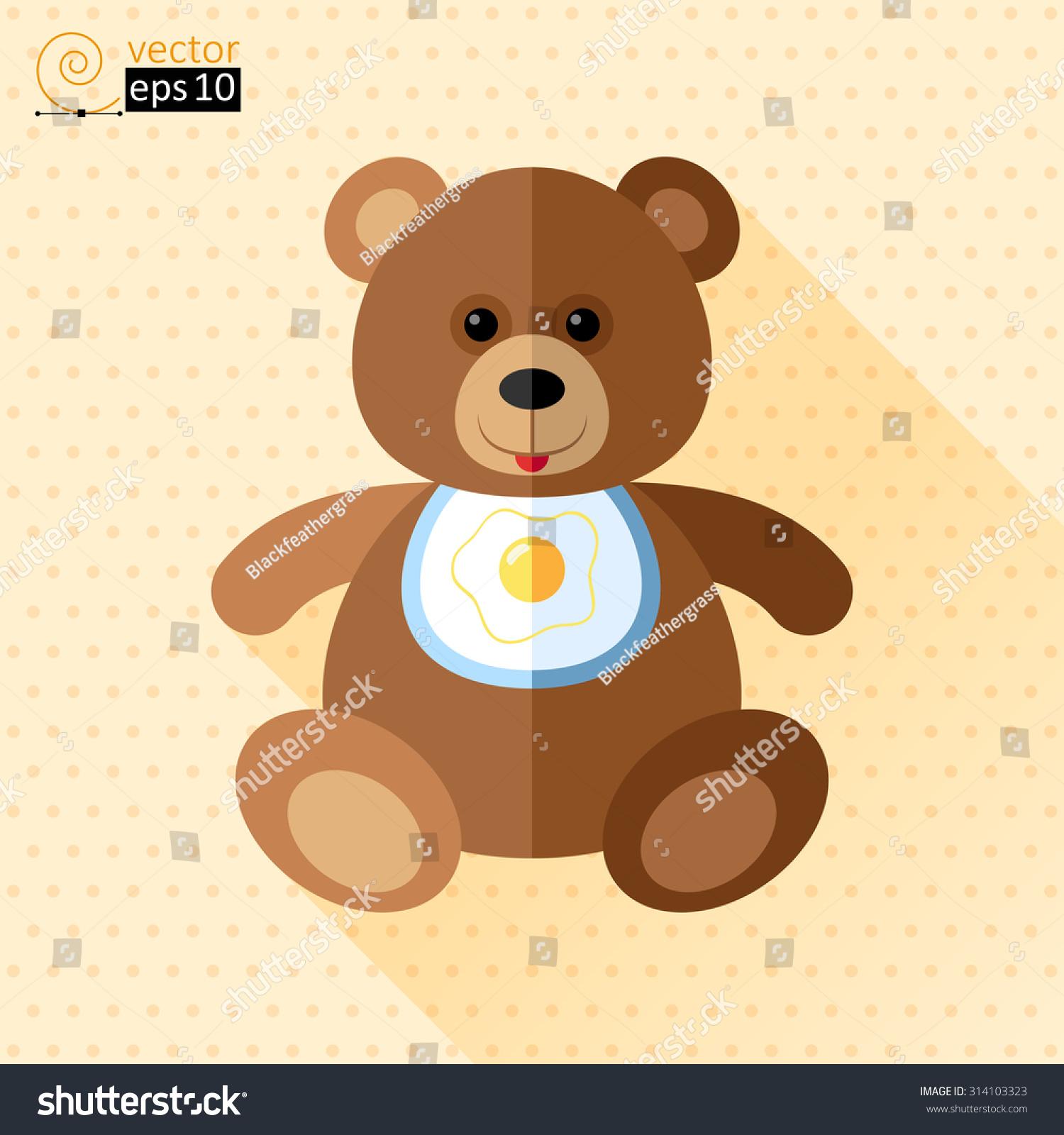 vector teddy bear flat icon stock vector 314103323 shutterstock