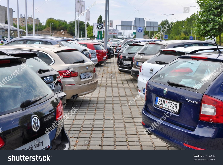 Auto Sale Czech Republic: Prague Czech Republic 02082015 Parking Cars Stock Photo