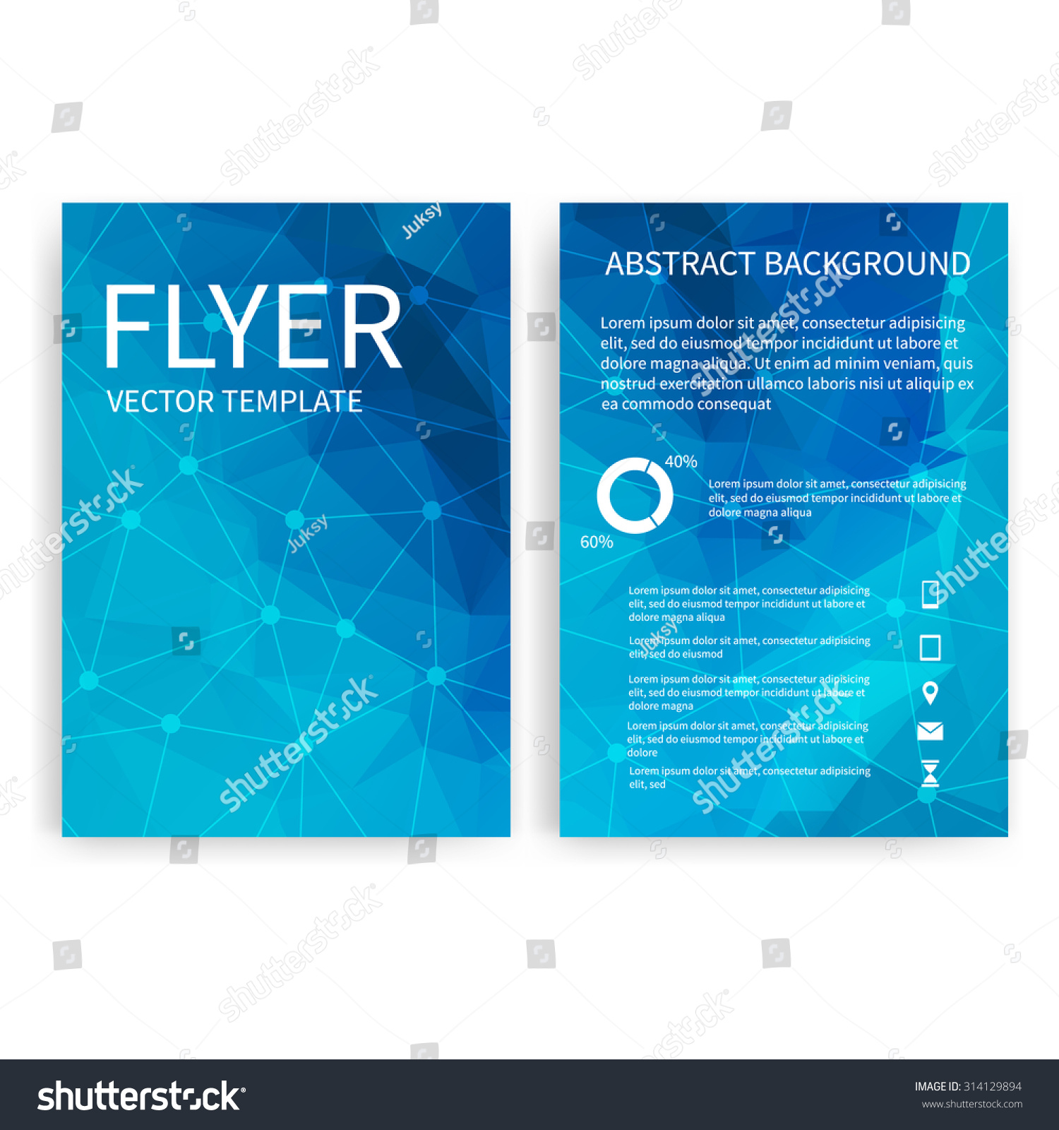 flyer design templates set of blue a brochure design templates save to a lightbox