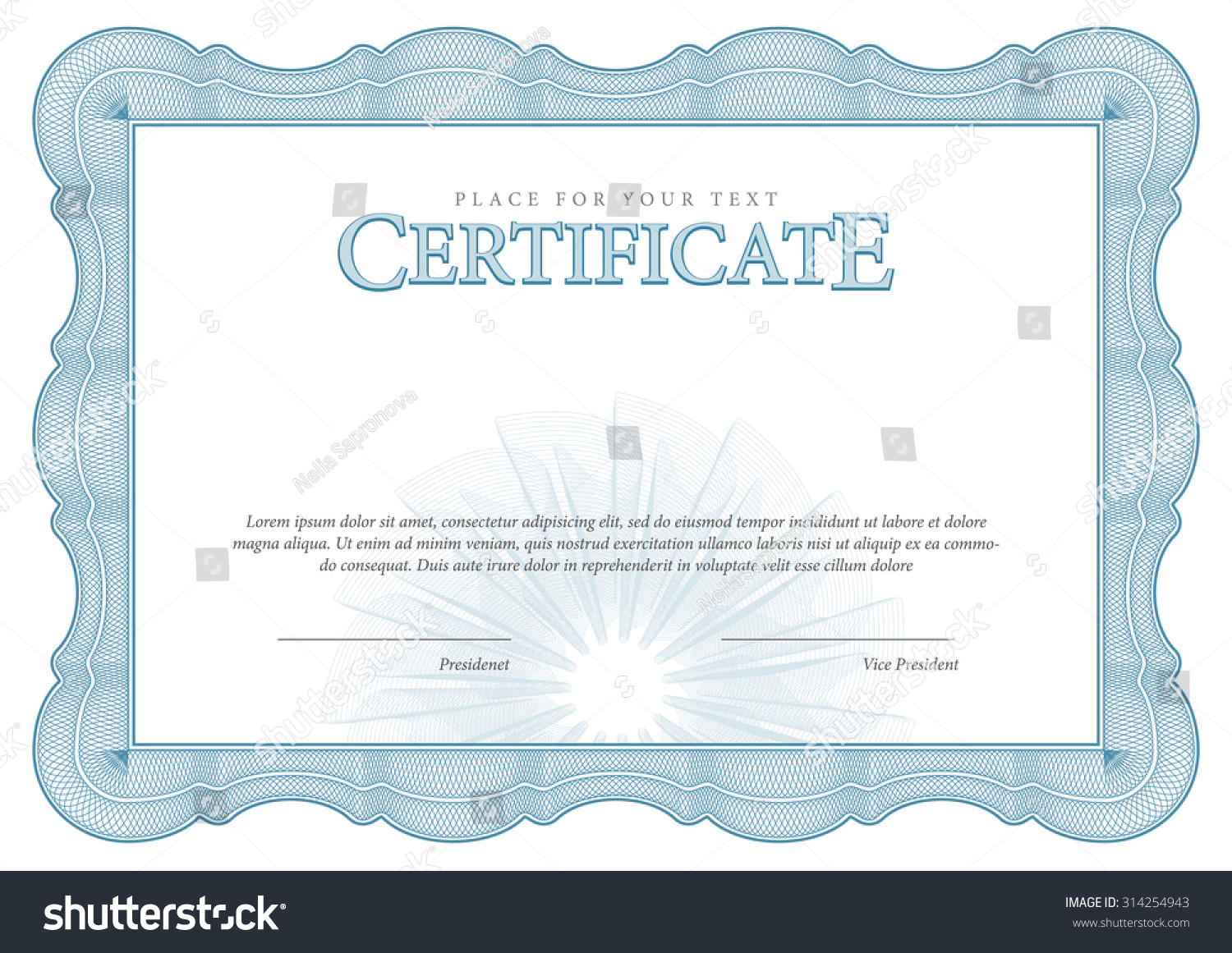 Vintage Certificate Award Background Gift Voucher Stock Vector