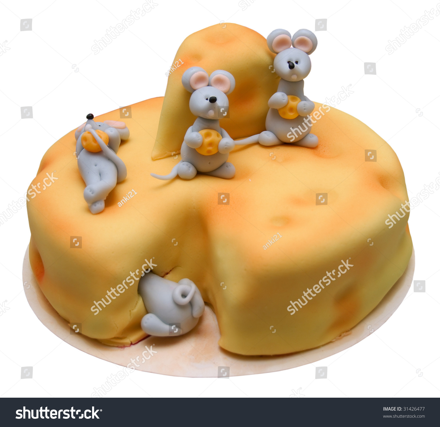 Pleasing Big Birthday Cake Decorated Mouses Chess Stock Photo Edit Now Funny Birthday Cards Online Overcheapnameinfo