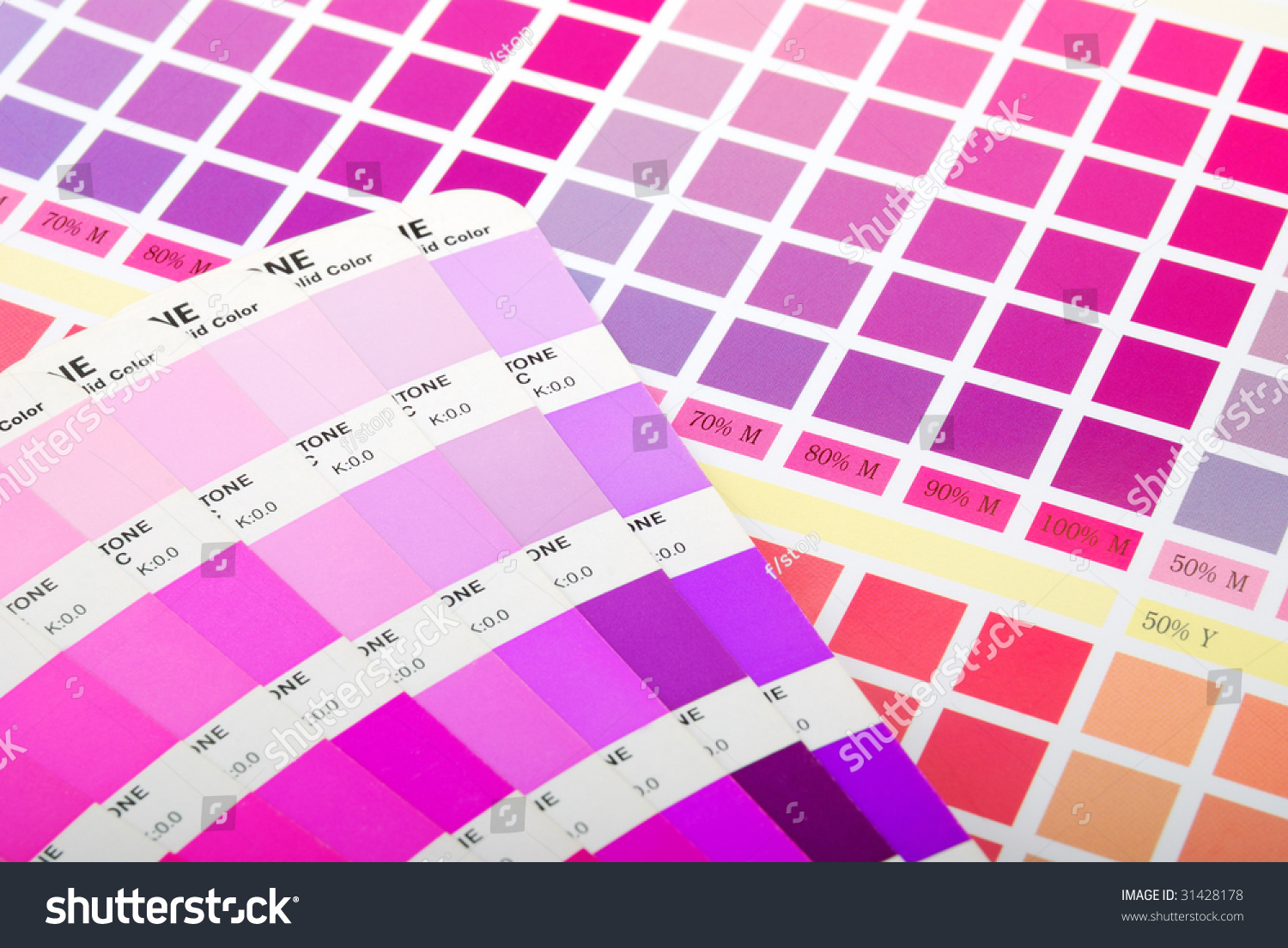 Color guide on printed color chart stock photo 31428178 shutterstock color guide on printed color chart purple pink and red nvjuhfo Image collections