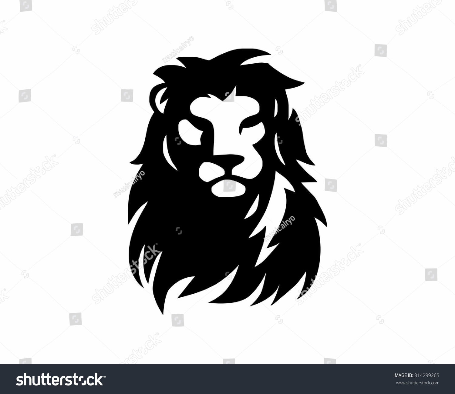 Lion Face Silhouette
