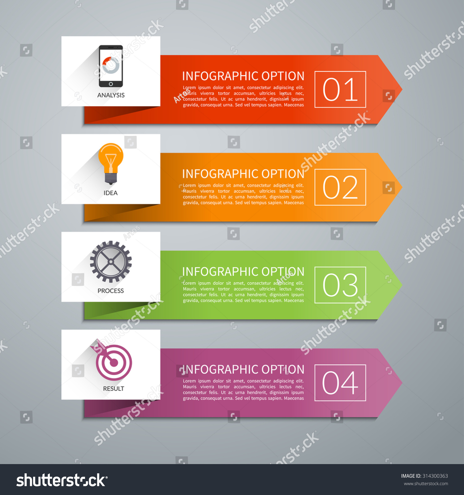 Design elements banner - Arrow Design Elements For Business Infographics Minimal Colorful Numbered Banners For Diagram Graph
