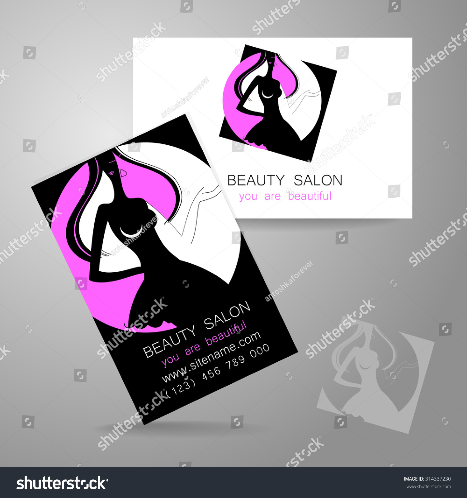 Beauty Logo Design Corporate Identity Template Stock Vector ...